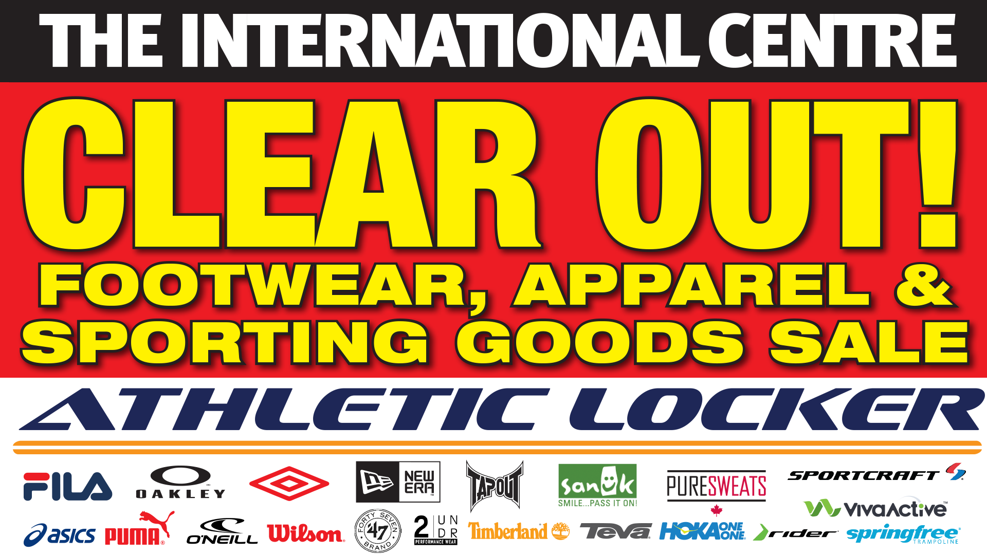 Athletic Locker Footwear, Apparel and Sporting Goods Clear Out Sale