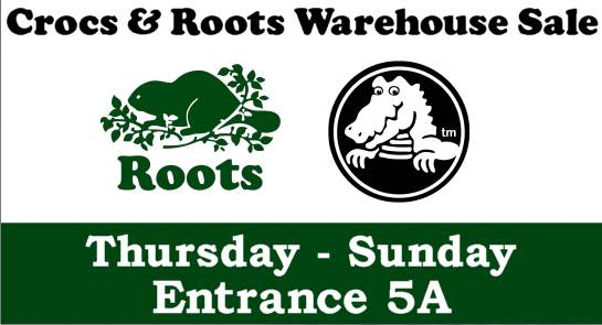 Crocs & Roots Warehouse Sale