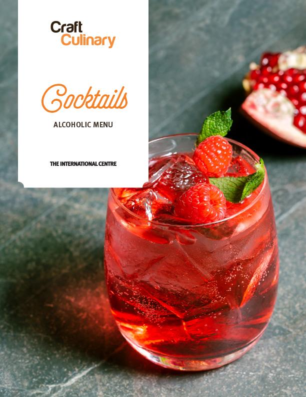 Cocktails Menu (Alcoholic Drinks)