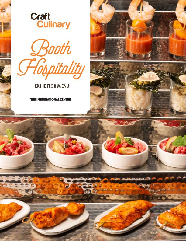Booth Hospitality Menu (Exhibitor)