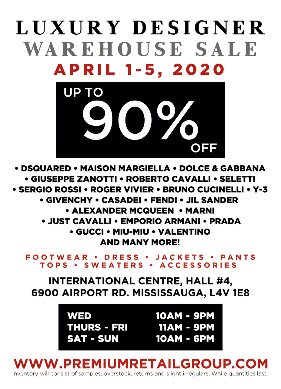 [POSTPONED] Luxury Designer Warehouse Sale