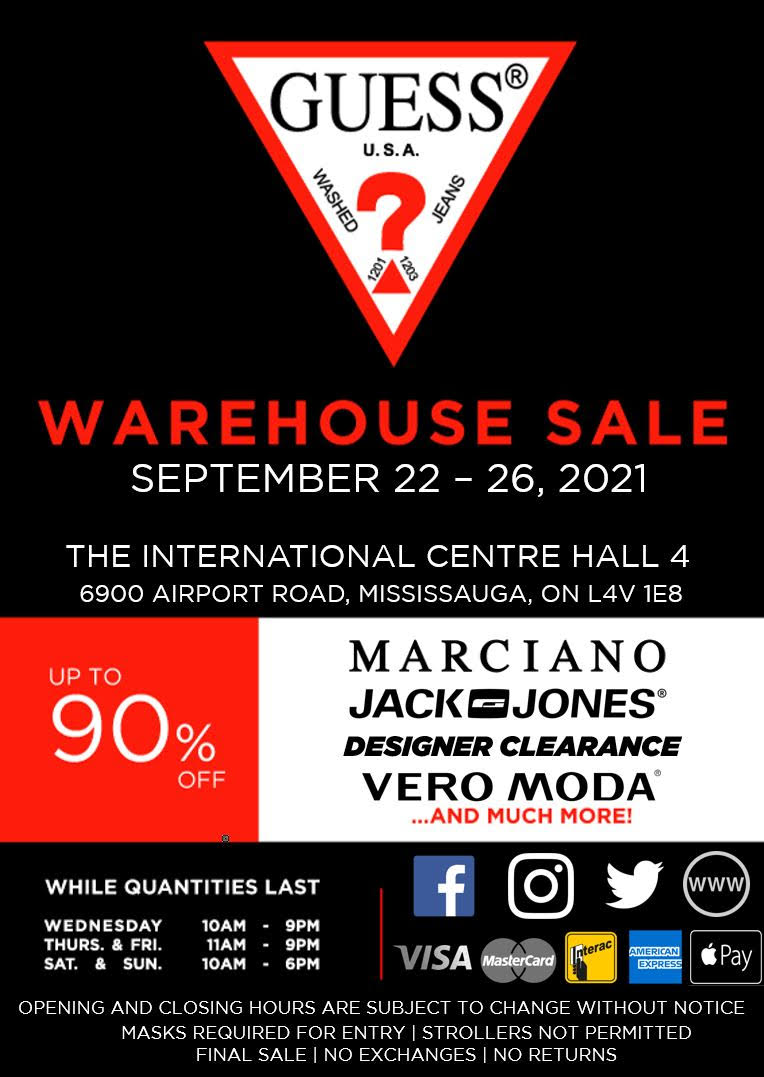 Guess Jeans Warehouse Sale