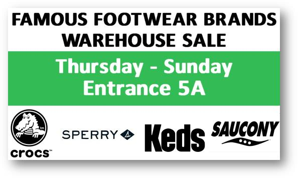 Crocs & More Warehouse Sale