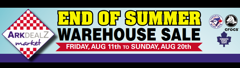 Crocs End of Summer Warehouse Sale
