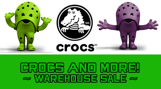 Crocs and Roots Warehouse Sale